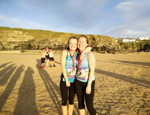 Completing the St. Ives Bay 10K race