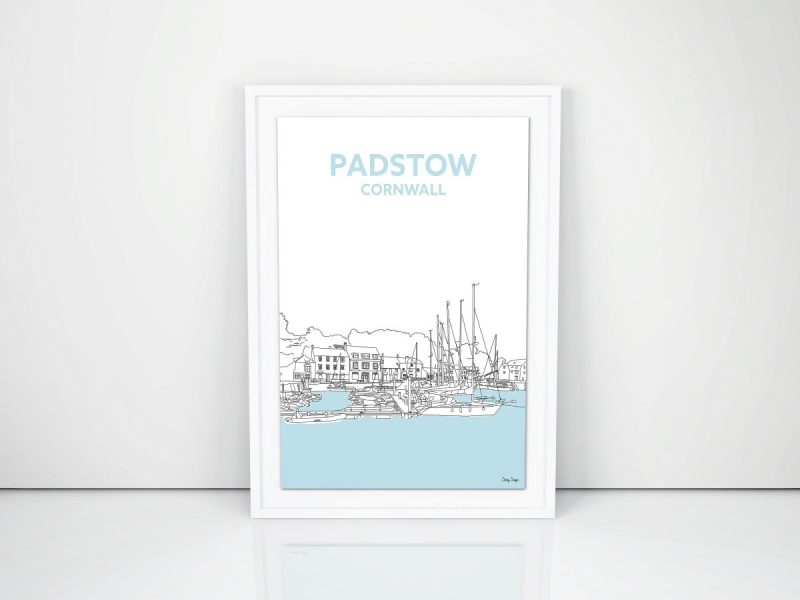cornish travel print