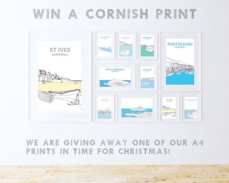 free cornish print giveaway cornwall