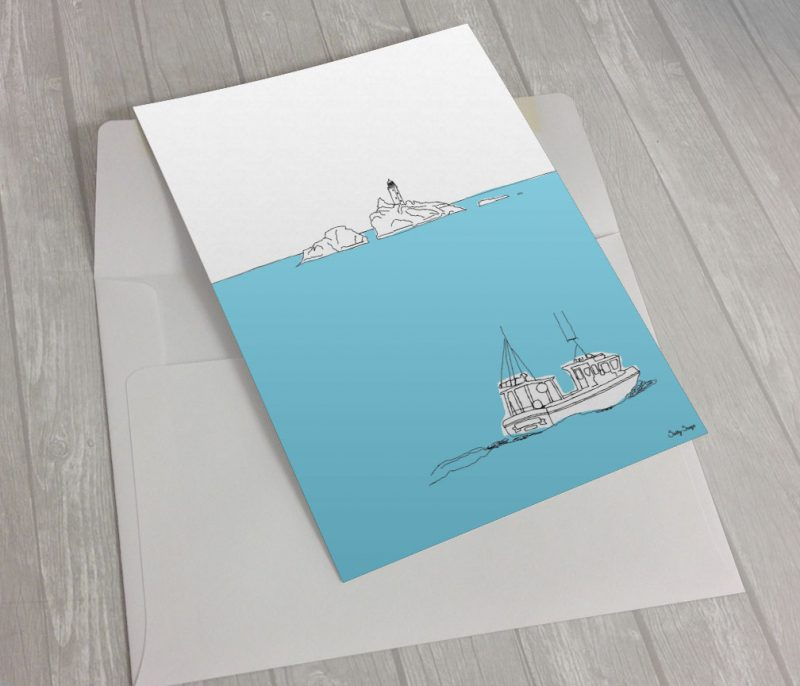 Were now selling cornish greeting cards salty songs cornish blog gwithian fishing boat greeting card m4hsunfo